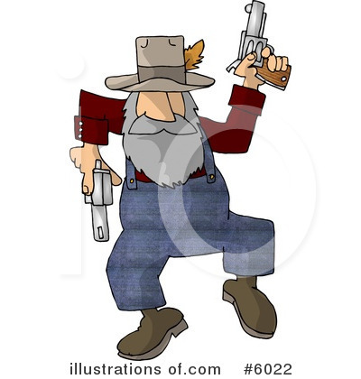 Royalty-Free (RF) Gun Clipart Illustration by Dennis Cox - Stock Sample #6022