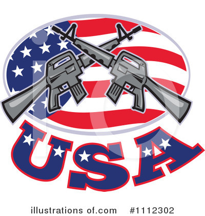 Royalty-Free (RF) Guns Clipart Illustration by patrimonio - Stock Sample #1112302
