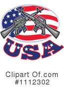 Royalty-Free (RF) Guns Clipart Illustration #1112302