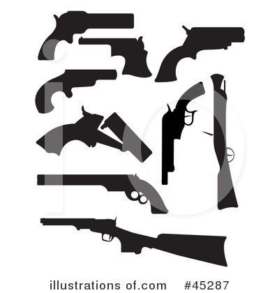 Guns Clipart #45287 - Illustration by JR