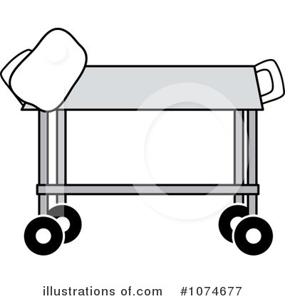 Gurney Clipart #1074677 - Illustration by Pams Clipart