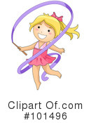 Royalty-Free (RF) gymnastics Clipart Illustration #101496