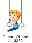 Royalty-Free (RF) Gymnastics Clipart Illustration #1132791