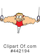 Royalty-Free (RF) Gymnastics Clipart Illustration #442194
