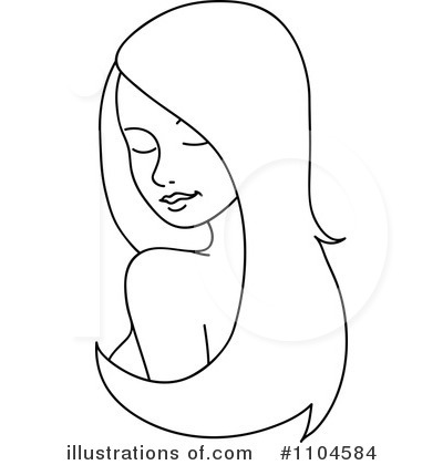 royalty free hair clipart illustration 1104584 - Elegant asian Hair Extensions