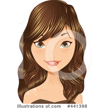 Royalty-Free (RF) Hair Clipart Illustration by Melisende Vector - Stock Sample #441398