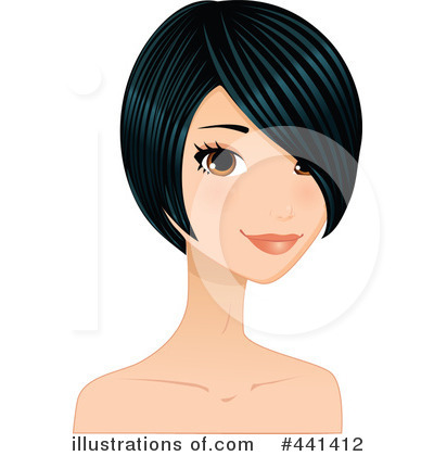 Hairstyles Clipart #441412 by Melisende Vector