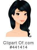 Royalty-Free (RF) Hair Clipart Illustration #441414