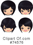 Royalty-Free (RF) Hair Clipart Illustration #74576