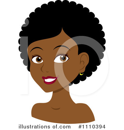 Afro Clipart #1110394 by Rosie Piter