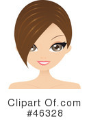 Royalty-Free (RF) Hair Style Clipart Illustration #46328