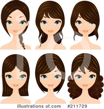 Hairstyle Clipart #211729 by Melisende Vector