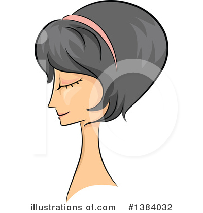 Hairstyle Clipart #1384032 by BNP Design Studio