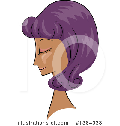 Hairstyle Clipart #1384033 by BNP Design Studio