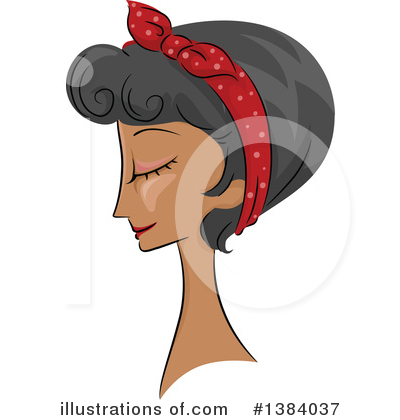 Hairstyle Clipart #1384037 by BNP Design Studio