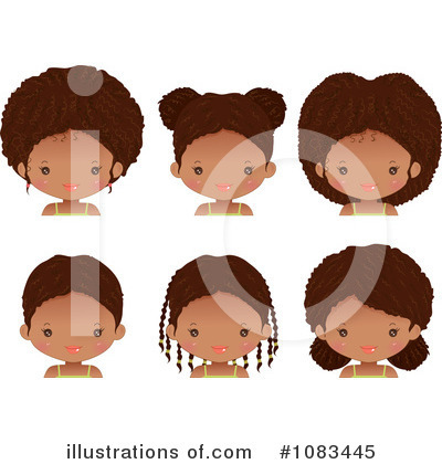 Afro Clipart #1083445 by Melisende Vector