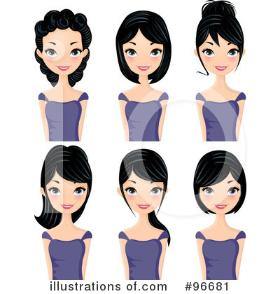 Hairstyle Clipart #96681 by Melisende Vector