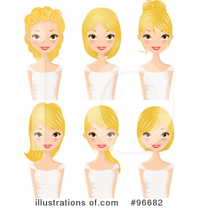 Hairstyle Clipart #96682 by Melisende Vector