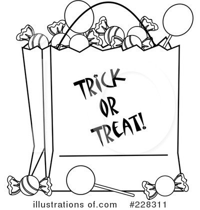 Treats With Candy Bag Coloring Sheet Coloring Pages