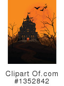 Halloween Castle Clipart #1352842 by Pushkin