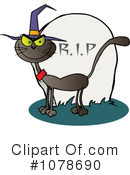 Royalty-Free (RF) Halloween Cat Clipart Illustration #1078690
