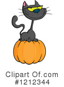 Halloween Cat Clipart #1212344 by Hit Toon