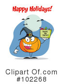 Royalty-Free (RF) Halloween Clipart Illustration #102268