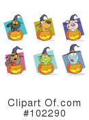 Royalty-Free (RF) Halloween Clipart Illustration #102290
