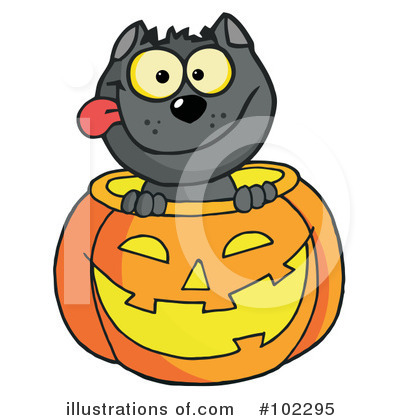 Royalty-Free (RF) Halloween Clipart Illustration by Hit Toon - Stock Sample #102295