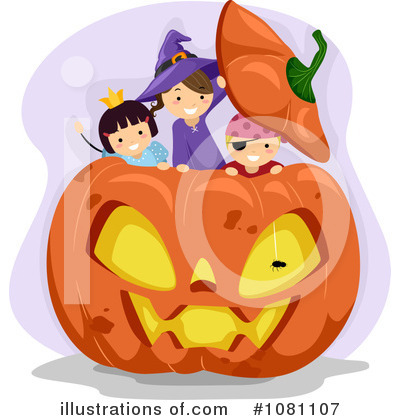 Royalty-Free (RF) Halloween Clipart Illustration by BNP Design Studio - Stock Sample #1081107
