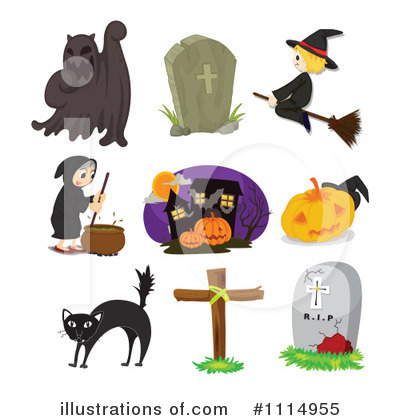 Haunted House Clipart #1114955 by Graphics RF