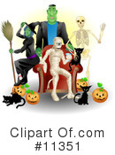 Royalty-Free (RF) Halloween Clipart Illustration #11351