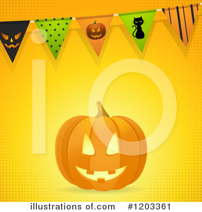 Halloween Party Clipart #1203361 by elaineitalia