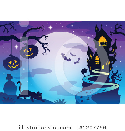 Haunted House Clipart #1207756 by visekart