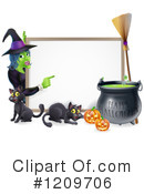 Royalty-Free (RF) Halloween Clipart Illustration #1209706