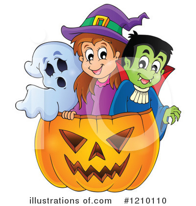 Halloween Pumpkins Clipart #1210110 by visekart