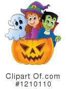 Royalty-Free (RF) Halloween Clipart Illustration #1210110
