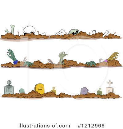 Cemetery Clipart #1212966 by BNP Design Studio