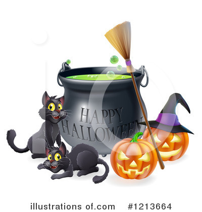 Royalty-Free (RF) Halloween Clipart Illustration by AtStockIllustration - Stock Sample #1213664