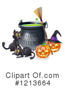 Royalty-Free (RF) Halloween Clipart Illustration #1213664