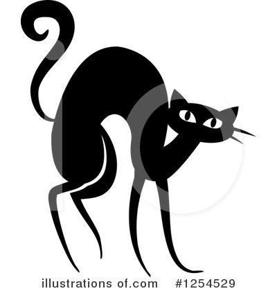 Scared Cat Clipart #1254529 by Vector Tradition SM