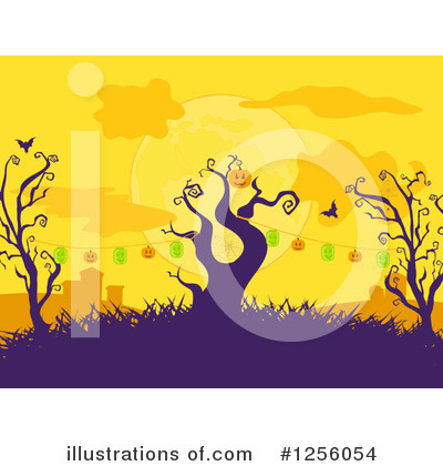 Royalty-Free (RF) Halloween Clipart Illustration by elaineitalia - Stock Sample #1256054