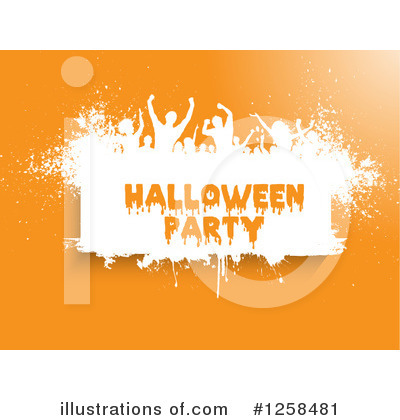 Halloween Party Clipart #1258481 by KJ Pargeter