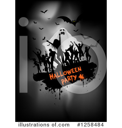 Halloween Party Clipart #1258484 by KJ Pargeter