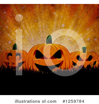 Halloween Pumpkins Clipart #1259784 by KJ Pargeter