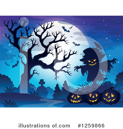 Royalty-Free (RF) Halloween Clipart Illustration by visekart - Stock Sample #1259866