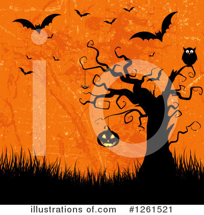 Halloween Pumpkins Clipart #1261521 by KJ Pargeter
