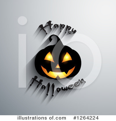 Halloween Pumpkins Clipart #1264224 by KJ Pargeter