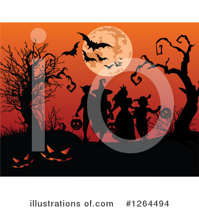 Royalty-Free (RF) Halloween Clipart Illustration by Pushkin - Stock Sample #1264494