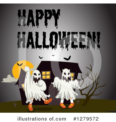 Haunted House Clipart #1279572 by Graphics RF
